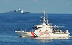 Cảnh sát biển Philippines diễn tập ở Biển Đông, gần Scarborough
