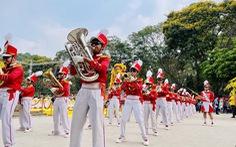 Đội nhạc kèn thuộc Liên đội Võ Thành Trang: Chơi kèn, học giỏi, làm việc có ích