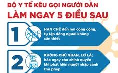 Bộ Y tế: 5 điều cần làm ngay trước nguy cơ COVID trở lại