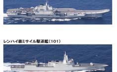 Nhóm tàu sân bay Trung Quốc vào biển Hoa Đông, tàu chiến Mỹ bám sát