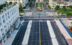 Tháo dỡ rào chắn một phần đường Lê Lợi, xe cộ được lưu thông từ ngày mai 29-4