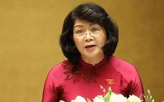 Trình Quốc hội miễn nhiệm Phó chủ tịch nước Đặng Thị Ngọc Thịnh