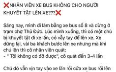 Nhân viên xe buýt ở TP.HCM không cho người khuyết tật lên xe?
