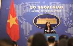 Bộ Ngoại giao trả lời câu hỏi về tàu Quang Trung diễn tập ở Biển Đông