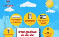 EVNHANOI: Vào mùa nắng tiêu thụ nhiều, làm sao để tiết kiệm điện?