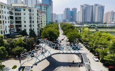 Cầu bộ hành chữ Y đẹp như thơ ở Hà Nội chuẩn bị khánh thành