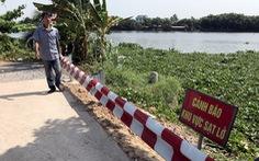 Đê bao bờ hữu sông Sài Gòn lún nửa mét