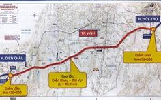 Dự kiến cuối tháng 5, đầu tháng 6 khởi công đoạn cao tốc Diễn Châu - Bãi Vọt