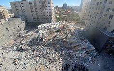 Tên lửa Israel san phẳng tòa nhà có truyền thông quốc tế