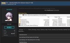 17GB thông tin CMND của người Việt bị rao bán trên mạng
