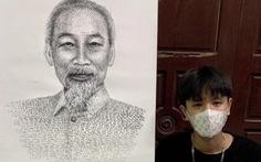 10X Bắc Ninh vẽ chân dung Bác Hồ bằng tên 63 tỉnh thành