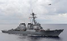 Trung Quốc tuyên bố đuổi tàu chiến Mỹ ở Hoàng Sa