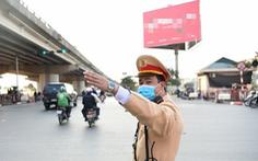 Cảnh sát giao thông huy động tối đa lực lượng đảm bảo an toàn bầu cử