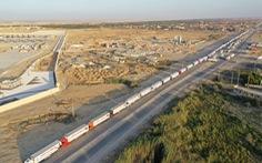 Ai Cập gửi 130 xe hàng cứu trợ tới Dải Gaza sau xung đột Israel - Palestine