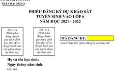 Trường THPT chuyên Trần Đại Nghĩa bắt đầu phát phiếu đăng ký dự tuyển vào lớp 6