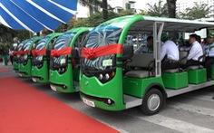 Thí điểm xe buýt điện chạy trong vành đai hạn chế ở Cần Giờ