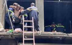Lời kể của người thợ hồ nhảy khỏi đám cháy thoát thân ở trung tâm TP.HCM