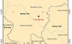 Quảng Nam xảy ra hai trận động đất liên tiếp ở miền núi