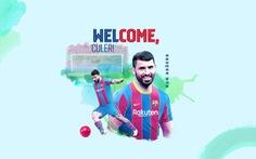Aguero gia nhập Barca với điều khoản 'khủng'