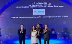 FE CREDIT được vinh danh Top 500 doanh nghiệp tăng trưởng nhanh nhất Việt Nam