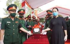An táng 106 liệt sĩ quân tình nguyện hi sinh tại Lào