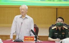 Tổng bí thư Nguyễn Phú Trọng tiếp xúc trực tuyến với hơn 2.400 cử tri Hà Nội