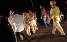 Hai thanh niên đi xe máy tông CSGT và dân quân nhập viện