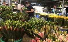 Cúc, ly, lay ơn… xuống nhiều, chợ hoa Đầm Sen nhộn nhịp ngày đầu mở cửa