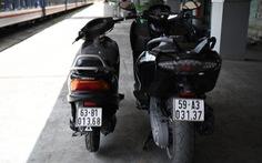 Bắt giữ 2 môtô giá gần nửa tỉ theo xe lửa từ TP.HCM ra Hà Nội