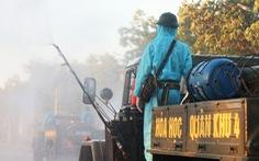Bộ đội hóa học Quân khu 4 khử khuẩn toàn bộ TP Vinh