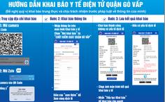 Hướng dẫn khai báo y tế điện tử cho người dân ra, vào quận Gò Vấp