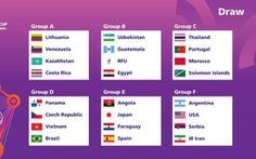 Tuyển futsal Việt Nam nằm cùng bảng với Brazil tại World Cup