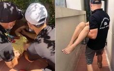 Bé trai 10 tuổi rơi từ tầng 5 chung cư thoát chết thần kỳ