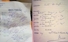 Thanh tra Bộ Y tế phê bình bác sĩ một bệnh viện vì 'viết ngoáy, viết tắt'