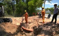 Đảo Cù Lao Chàm mất điện do xe múc đất làm hỏng cáp ngầm 22kV