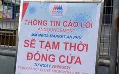 Tìm người liên quan đến ca F0 là nhân viên tại Mega Market An Phú