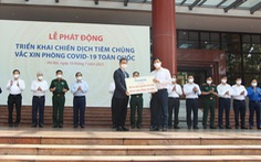 Thaco trao tặng 126 xe chuyên dụng vận chuyển vắc xin và phục vụ tiêm chủng lưu động
