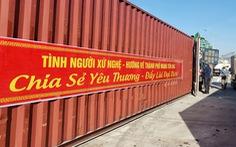 350 tấn hàng hóa nghĩa tình người dân xứ Nghệ gửi vào TP.HCM
