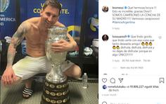 Ảnh Messi ôm cúp vô địch đạt gần 20 triệu like trên Instagram