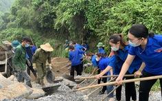 Đồng loạt trồng cây, xây cầu trong ngày cao điểm tình nguyện