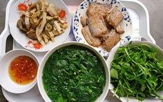 Cá hố muối sư, thịt xào cùi dừa, canh rau tập tàng - Hạnh phúc chẳng tìm đâu xa