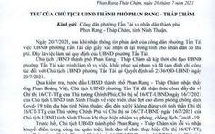 Chủ tịch TP Phan Rang - Tháp Chàm xin lỗi dân vì 'cấp dưới xử lý sai công vụ'