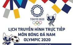 Lịch trực tiếp môn bóng đá nam Olympic ngày 22-7 trên VTV