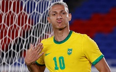 Richarlison lập hat-trick, Brazil thắng đậm Đức ngày ra quân Olympic Tokyo