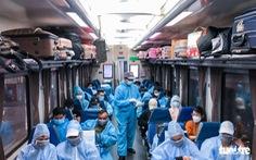 Nhiều địa phương tiếp tục đưa công dân ở TP.HCM về quê bằng tàu hỏa