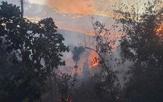 Đang cháy lớn ở rừng keo Tiên Phước, một người tử vong