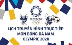 Lịch trực tiếp dự kiến bán kết bóng đá nam Olympic 2020 trên VTV