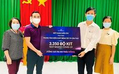 Đất Xanh Miền Tây tặng 3.350 bộ kit - test nhanh COVID-19 cho TP Cần Thơ