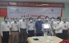 Angimex tặng xe cứu thương, máy thở cho Bệnh viện Đa khoa khu vực Châu Đốc