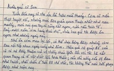 Ông cụ 88 tuổi viết thư cảm ơn: 'Chưa bao giờ tôi được ăn ngon như những ngày này'